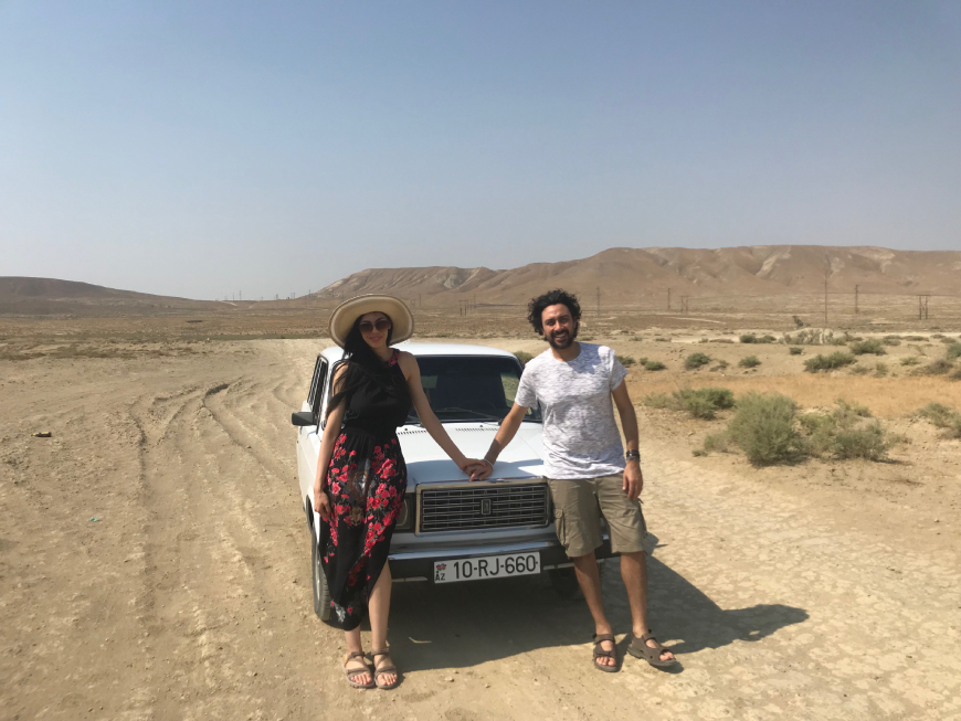 lada taxi drive in gobustan national park