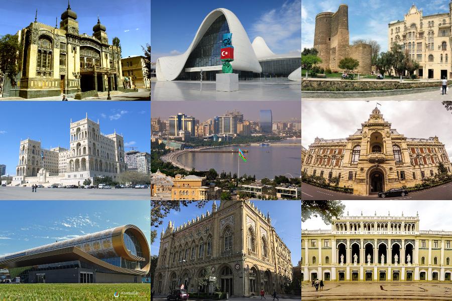 architectures of capital of azerbaijan