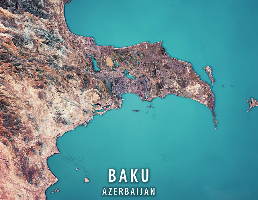 map capital of azerbaijan